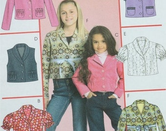 2006, Sewing Pattern, McCall's M5170, Sizes 7, 8 10, 12, and 14, Children's Unlined Vest and Jackets, UNCUT, International Shipping