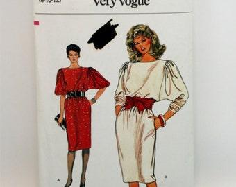 Vintage 1980s, Sewing Pattern, Vogue 8734. Misses' Size 8  Dress