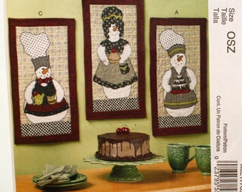 McCall's M6217, Crafts, Sewing Pattern, SnowPeople, Mini Quilt, Pattern, UNCUT