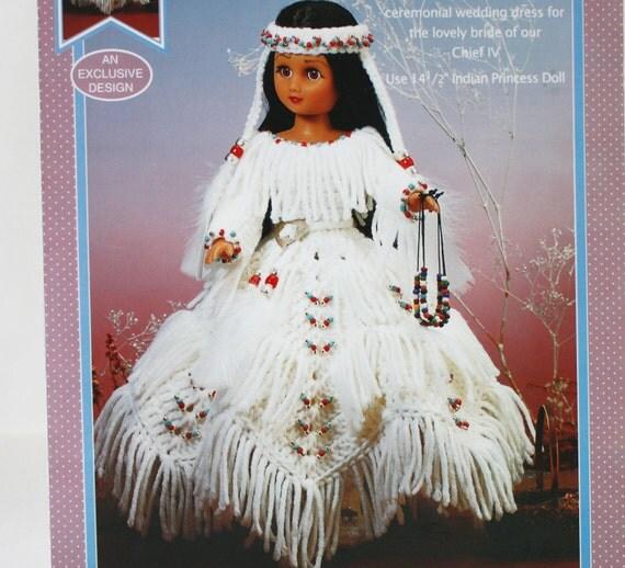 Indian Princess IV, Crochet Pattern  FCM446, By Fibre Craft, International Shipping