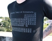 Unisex Mens PERIODIC TABLE  american apparel t shirt  xs S M L XL xxl (black shirt)