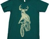 Mens DEER t shirt american apparel tee XS S M L XL xxl (Forest)