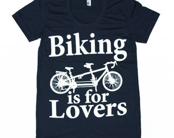 Womens TANDEM BICYCLE american apparel tshirt
