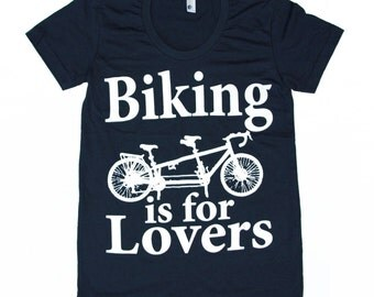 Womens TANDEM BICYCLE american apparel t shirt