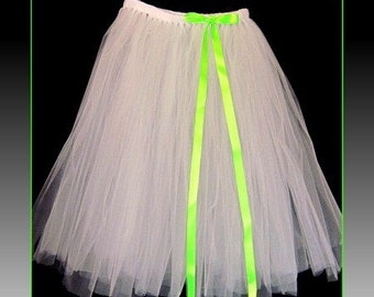 "Tutu skirt 30"" long ,floor length bow, Bridesmaid Tutu,Sewn Tutu,Pageant Tutu,Flower Girl Tutu size,Customize Tutu,All Sizes Welcome"