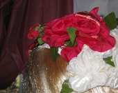 Fabulous 1940s Bouquet Red ROSES For Sunday is the Hat of Hollywood Stars Hats On SaLe Now