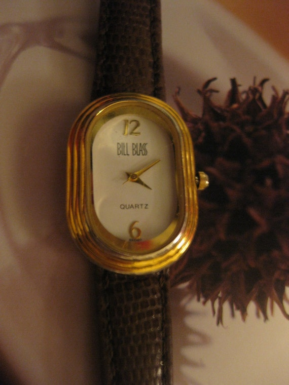 Vintage Bill BLASS Wrist  Watch Quartz, Working and New Battery installed Oval Face Unisex and On SaLe Now