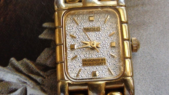 vintage paolo gucci wrist watch original pre owned working vintage paolo gucci wrist watch original pre owned working gold plated lady wris twatch international shipping