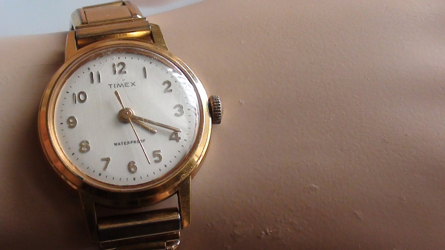 Timex Wind Up Watch 1963 French Mark And Gold Fill Ladies