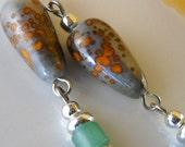 Paper Lanterns - Jade Dangle Drop Earrings - Complimenary Shipping Worldwide