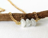 Necklace Moonstone Bead Gold Chain