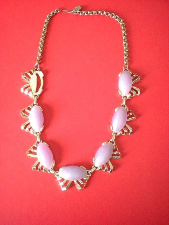 SALE- Vintage purple and gold cocktail necklace