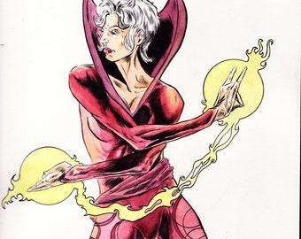Sorceress illustration 9x12