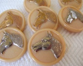 Glass Horses Vintage Buttons - LAST in Stock