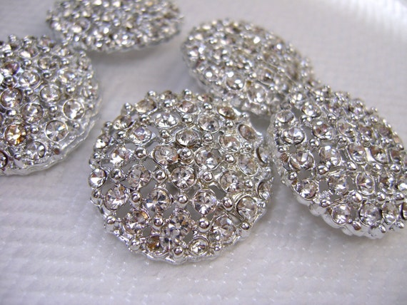 Rhinestone Vintage Button - Large, Sparkly, Party Glam