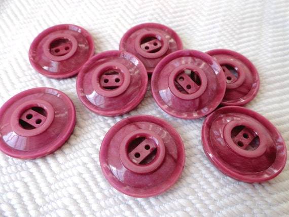 1930s Vintage Buttons - Plum Meets Pink