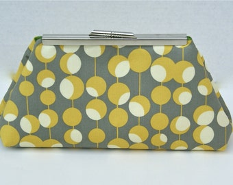 Bridsemaids Handbag Clutch in Yellow and Gray Clutch for Gift or Bridesmaids- Design your Own