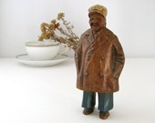 Old Salt, Vintage Nautical Statue, Rustic Sea Captain, Weathered Sailor, Salty Seaman, Gift for Him, Ocean Lover