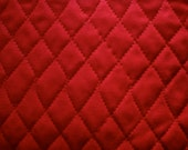 Solid Red Double-Sided Pre-Quilted Fabric