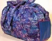 Blue Butterfly Batik, Medium