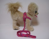 Groovy Flowers- Step-in Adjustable Harness and Leash Set