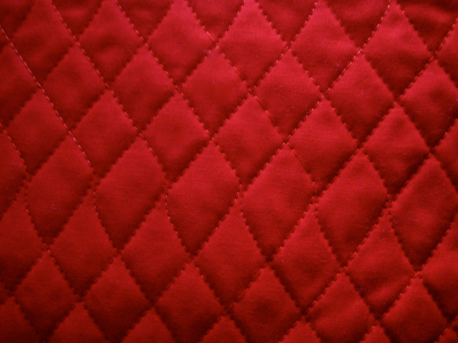 Solid Red Double Sided Pre Quilted Fabric
