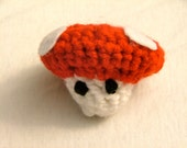 Crochet Red Mushroom, Ready To Ship