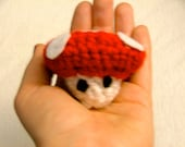 Crochet Red Mushroom, ready to ship