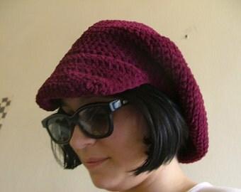 Plush Crochet Cap