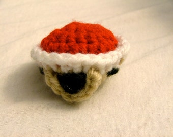 Crochet Red Turtle Shell
