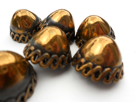 """Vintage Brass Dome Buttons 7/8"""""""
