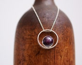No, memories wont go...star ruby slide pendant on light sterling silver chain