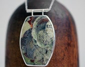 in my other world, no. 6...mushroom jasper necklace in sterling silver