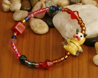 Colorful Buzzy Bee Bracelet (M)