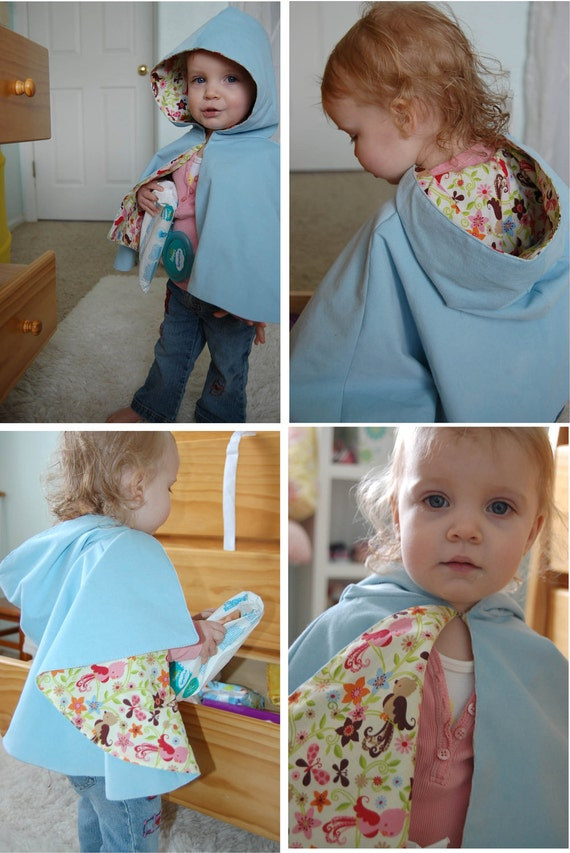 Toddler Girls Cape size 12-18 mos Baby blue Corduroy READY to ship 12 mos 18 mos