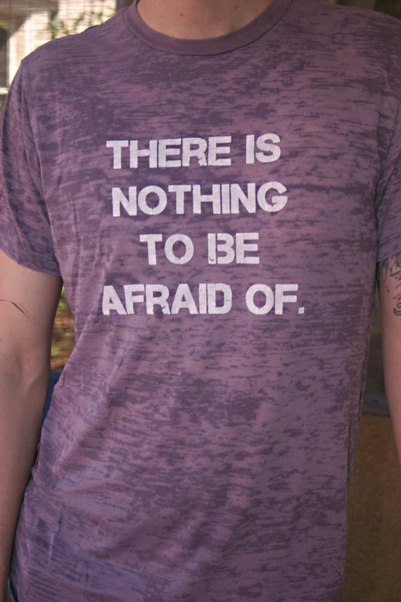 SAMPLE SALE-- fear nothing men's t-shirt size M only