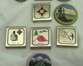 Vinage Boy Scout Patches and Metal Clips