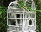 White Wicker Birdcage Shabby Chic 50% off Sale