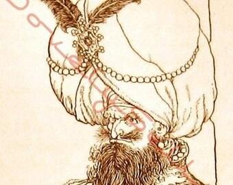 Blackbeard Illustration Altered Art Collage Sheet