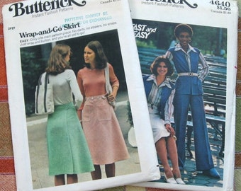 70s 2 Butterick Skirt and Pants Suit Pattern Cut 6