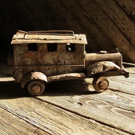 Folk Art Old Metal Bus