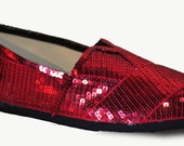 SIZE 6.5 Ruby Red Sequin Classics
