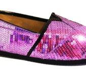 SIZE 10 Lilac Purple Sequin Canvas Alpargata Classics by Princess Pumps