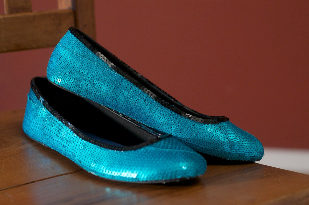 Black And Turquoise Canvas Shoes