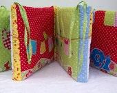 Colorful patchwork, appliqu Farmhouse Book-Bumper, Ready to go