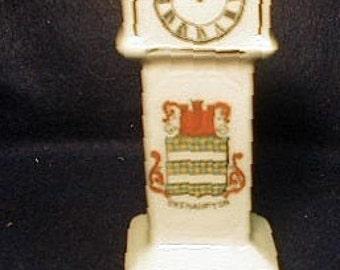 "Vintage Coronet Ware  ""Okehampton"" Crest Mini Tall Clock"