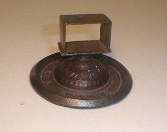 antique cast iron umbrella drip pan c by swedishgalsantiques. Black Bedroom Furniture Sets. Home Design Ideas
