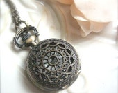 Victorian Lace Pocket Watch Necklace -Vinatge Pocket Watch Collection