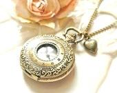 Vinatge Style Pocket Watch Necklace