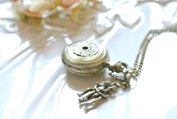 Love Frog Pocket Watch Necklace